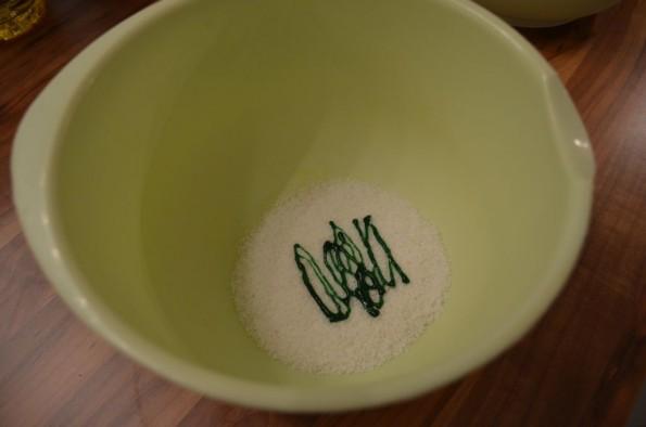 dye coconut flakes