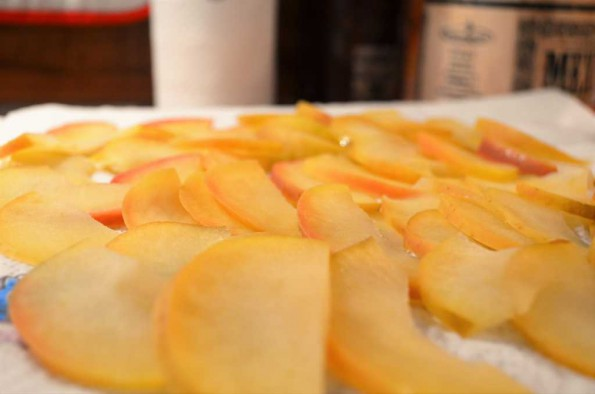 dry and cool apple slices
